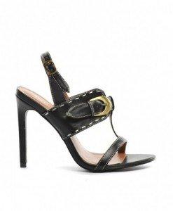 Sandale Mono Negre - Sandale cu toc - Sandale cu toc