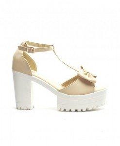 Sandale Moscova Bej - Sandale cu toc - Sandale cu toc
