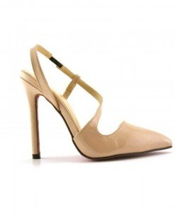Sandale Navagio Bej - Sandale cu toc - Sandale cu toc