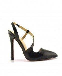 Sandale Navagio Negre - Sandale cu toc - Sandale cu toc
