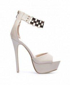 Sandale Nul Bej - Sandale cu toc - Sandale cu toc