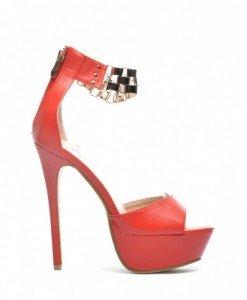 Sandale Nul Rosii - Sandale cu toc - Sandale cu toc