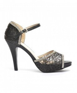 Sandale Pepa Negre - Sandale cu toc - Sandale cu toc