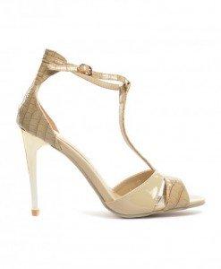 Sandale Picadeli Bej - Sandale cu toc - Sandale cu toc