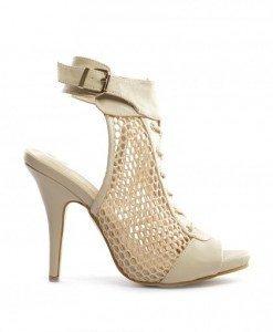 Sandale Polon Bej - Sandale cu toc - Sandale cu toc
