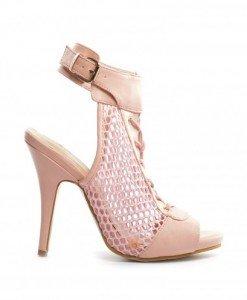 Sandale Polon Roz - Sandale cu toc - Sandale cu toc