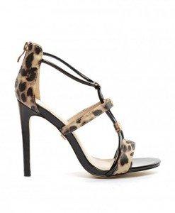 Sandale Polova Negre - Sandale cu toc - Sandale cu toc