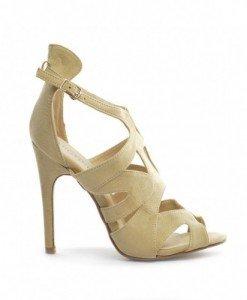 Sandale Prano Bej - Sandale cu toc - Sandale cu toc