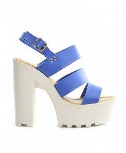Sandale Rada Albastre - Sandale cu toc - Sandale cu toc