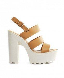 Sandale Rada Camel - Sandale cu toc - Sandale cu toc