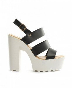 Sandale Rada Negre - Sandale cu toc - Sandale cu toc