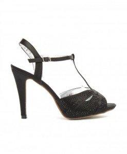 Sandale Rafa Negre - Sandale cu toc - Sandale cu toc