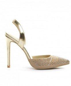 Sandale Rafaga Bej - Sandale cu toc - Sandale cu toc