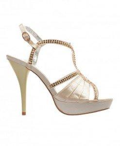 Sandale Rianda Bej - Sandale cu toc - Sandale cu toc