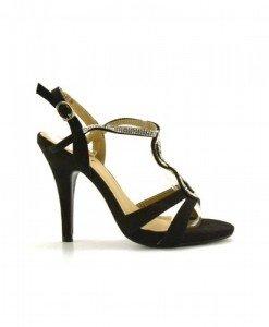 Sandale Roberta Negre - Sandale cu toc - Sandale cu toc