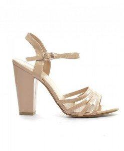 Sandale Roney Bej 2 - Sandale cu toc - Sandale cu toc