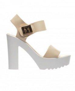 Sandale Rossi Bej - Sandale cu toc - Sandale cu toc