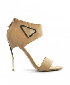 Sandale Rosy Bej - Sandale cu toc - Sandale cu toc