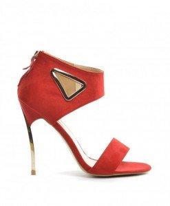 Sandale Rosy Rosii - Sandale cu toc - Sandale cu toc