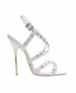 Sandale Rox Albe - Sandale cu toc - Sandale cu toc