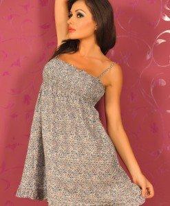SiS03 - Rochie Dama cu Floricele - Sisley - Haine > Brands > Sisley