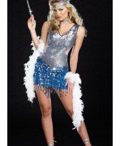 T219-18 Costum Halloween dansatoare cabaret - Altele - Haine > Haine Femei > Costume Tematice > Altele