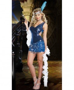 T219 Costum dansatoare cabaret - Altele - Haine > Haine Femei > Costume Tematice > Altele
