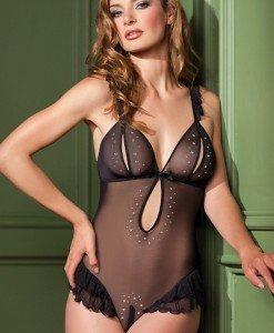 T249 Body sexi cu aplicatii - Lenjerie body - Haine > Haine Femei > Lenjerie intima > Lenjerie body