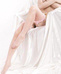 T44-5 Ciorapi sexy din plasa cu volanase - Ciorapi dama - Haine > Haine Femei > Ciorapi si manusi > Ciorapi dama