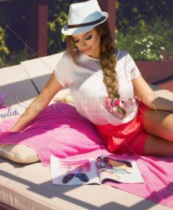 Top PrettyGirl Aerial Rosa - Topuri -