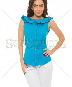 Top PrettyGirl Frilled Blue - Topuri -