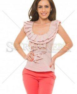 Top PrettyGirl Frilled Rosa - Topuri -
