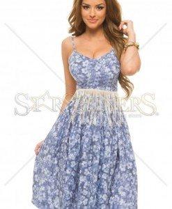 Top PrettyGirl Fringe Blue - Topuri -