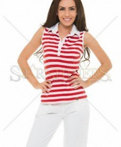 Top PrettyGirl Simple Lines Red - Topuri -