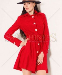 Trench Artista Early Riser Red - Trenciuri -