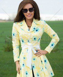 Trench Artista Spoiled Design Yellow - Trenciuri -