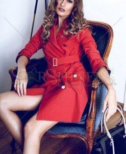 Trench PrettyGirl Modern Red - Trenciuri -