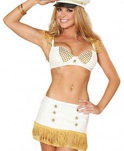 U250 Costum tematic de marinar cu top si fusta - Armata - Marinar - Haine > Haine Femei > Costume Tematice > Armata - Marinar