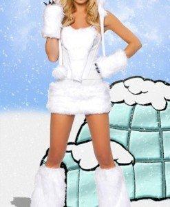 V87 Costum tematic urs polar - Altele - Haine > Haine Femei > Costume Tematice > Animalute > Altele