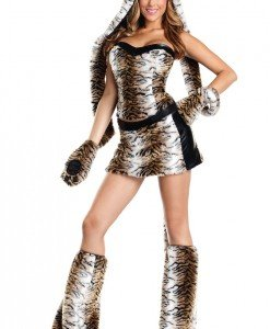 W223 Costum tematic Halloween tigru - Animalute - Haine > Haine Femei > Costume Tematice > Animalute
