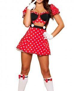 W227 Costum tematic Mickey Mouse - Personaje din desene - Haine > Haine Femei > Costume Tematice > Animalute > Personaje din desene