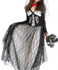 W306 Costum Halloween mireasa moarta - Altele - Haine > Haine Femei > Costume Tematice > Altele