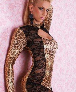 W85 Salopeta lunga animal print - Animalute - Haine > Haine Femei > Costume Tematice > Animalute