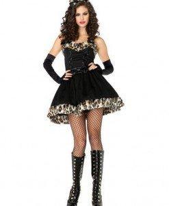 X132 Costum Halloween leopard - Animalute - Haine > Haine Femei > Costume Tematice > Animalute
