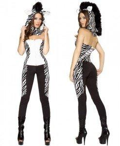 X143 Costum Halloween salopeta zebra - Animalute - Haine > Haine Femei > Costume Tematice > Animalute