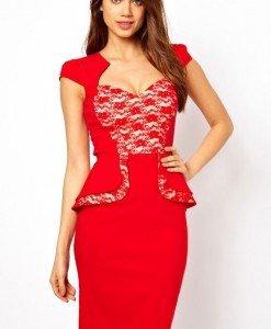 X220 Rochie eleganta cu peplum - Rochii de seara - Haine > Haine Femei > Rochii Femei  > Rochii de seara