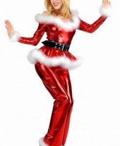 XM111 Costum de craciunita sexy din latex - Costume de craciunita - Haine > Haine Femei > Costume Tematice > Costume de craciunita