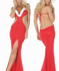 XM123 Rochie Craciunita Sexi - Costume de craciunita - Haine > Haine Femei > Costume Tematice > Costume de craciunita