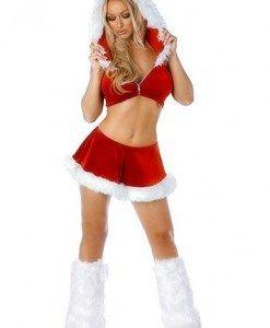 XM153 Costum tematic craciunita sexy - Costume de craciunita - Haine > Haine Femei > Costume Tematice > Costume de craciunita
