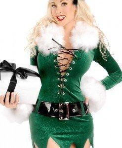 XM179 Costum tematic elf Craciun - Costume de craciunita - Haine > Haine Femei > Costume Tematice > Costume de craciunita